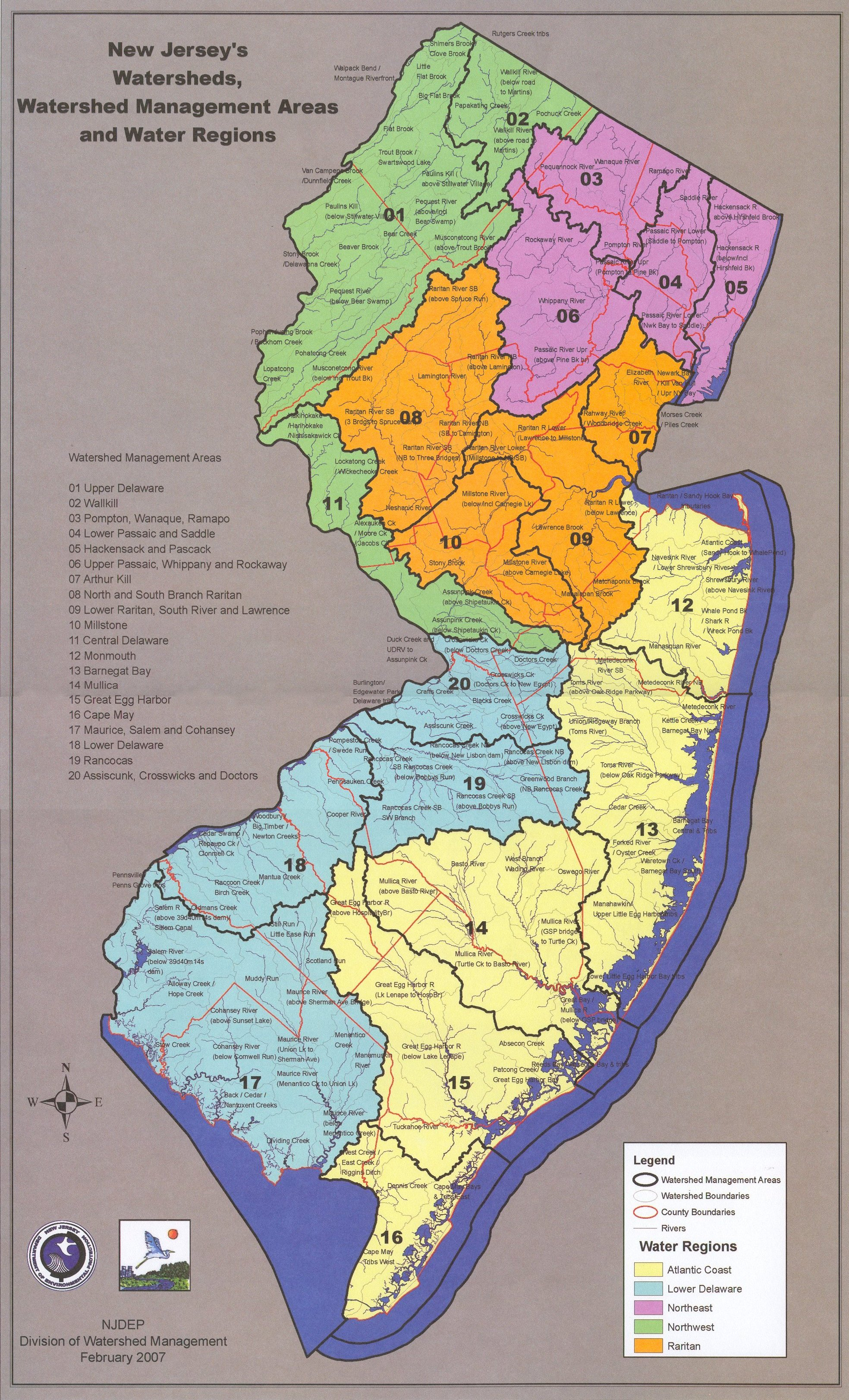 new jersey watershed management areas. new jersey watershed management areas  raritanrutgersedu