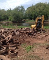 Photo of Central Jersey Stream Team Somerset County Park Tire Removal by Pierce Frauenheim of SCP