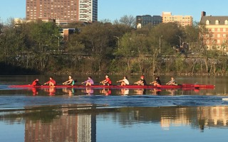 rutgers womens rowing team on the raritan river by rutgers athletics - cropped