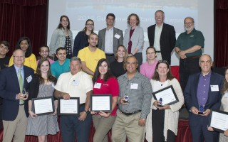 Conservation awardess at the 8th annual Sustainable Raritan Conference